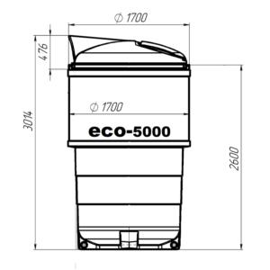 заглубленный мусорный контейнер